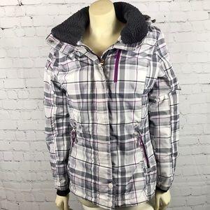 Zero Exposure Winter ski coat Med Gray Purple EUC